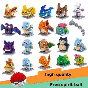 Wholesale LOZ DIAMOND BLOCKS Toy Super Heroes Pikachu In 7.5 CM Box Parent-child Games Educational DIY Assemblage Bricks Toys 3D Puzzle Toy doll lol
