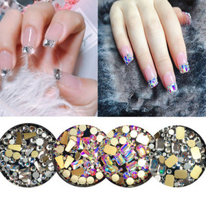 Wholesale Mixed style Crystal AB Rhinestone nail Decoration D transparent diamond nail stick Special shape DIY Manicure Accessories