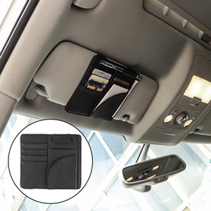 Wholesale Car Sun Visor Pocket Multifunctional Storage Bag Clip Card Holder for IC Card Ticket Folder Coins