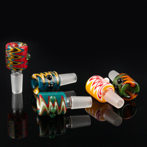 Wholesale 14mm mm Herb Slide Dab Pieces Glass Bowls Dry Herb Bowl Bong bowls Ash Catcher for Glass Bongs Water Pipes Dab Rig