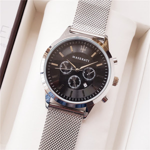 Wholesale Fashion Mens Watch Maserati Mesh Belt mm Mens Designer Sport Watch Gift Clock Mens Quartz Sport Wristwatch