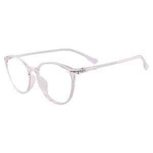 Wholesale Men Women Fashion Transparent Round Glasses Frame Retro TR90 Eyeglasses for Prescription Single Vision Myopia Reading Lenses