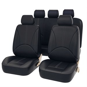 Wholesale 9Pcs Luxury PU Leather Car Seat Covers Universal Auto Waterproof Dustproof Protector Seat Case for Vehicle Black Cover