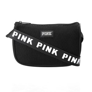 Wholesale Designer-Pink Letter Fanny Pack Waist Bag Shoulder Bag Messenger Bags Women Fashion mini Beach Bag 9 colors