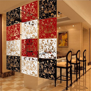20PCS fashion hollow Room divider Biombo Room partition wall dividers PVC Wall stickers hotel office Blinds dividers folding Screen on Sale