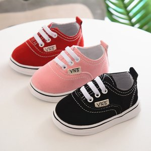 Wholesale Newborn Shoes Infant Toddler Baby Boy Girl Spring Autumn Soft Bottom Spring Canvas Shoes Walkers Newborn0 M