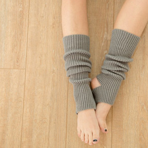 Wholesale Woman Yoga Socks Gym Fitness Dancing Daily Wear Exercising Keep Warm Latin Long Section Knitting Walking