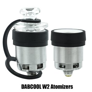 Wholesale vape dab tank resale online - 100 Original DABCOOL W2 Enail Atomizer Hookah Wax Concentrate Coil Tank Budder Dab Rig Vape Kit With Heat Settings Long Lasting Genuine