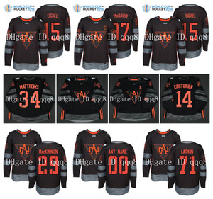 camisetas de wch al por mayor-Team America del Norte jerseys CONNOR Mcdavid Auston Matthews JACK EICHEL JOHNNY GAUDREAU Copa del Mundo de Hockey Jersey Rielly HBB