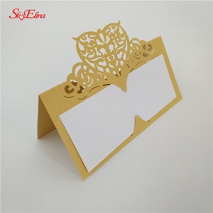 Wholesale 50pcs Laser Cut Seat Card Table Name Card Place Wedding Party Table Decoration Birthday Supplies zSH871