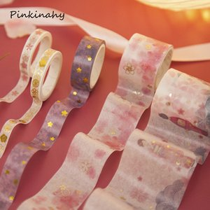 Wholesale 5 Retro sakura Gilding Decorative Washi Tape Set Japanese Paper Sticker Scrapbooking Adhesive Washitape Stationary JD027
