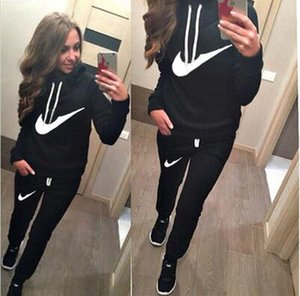 Wholesale 2019 New Arrival Women active set tracksuits Hoodies Sweatshirt Pants Running Sports set long sleeves and pants