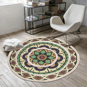 Wholesale mats for living room for sale - Group buy Tufted Round Carpet for Living Room Macrame Bedroom Rugs Classic Cotton Linen Macrame Rug Prayer Floor Mats Hand Woven Carpets