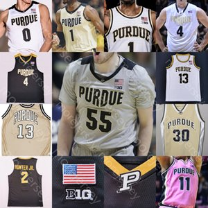 personalizado camisa de basquete de purdue venda por atacado-Custom Purdue Calvídios Basquetebol Jersey NCAA College Proctor Stefanovic Hunter Jr Haarms Williams Oriental Thompson Robinson