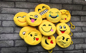 1piece Random Emojis Little Gift Coin Bag Small Key Hook Coin Purse Wallet Bag Pouch Girl Plush Coin Bag