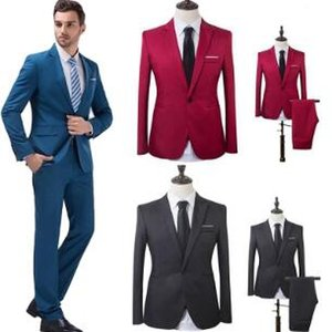 Men Wedding Suit Male Blazers Slim Fit Suits For Men Costume Business Formal Party Formal Work Wear Suits (Jacket+Pants)