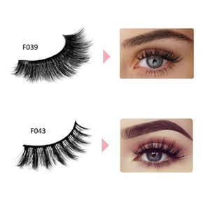 Wholesale Brand False Eyelashes Natural D Mink Lashes Make Up Handmade Thick Full Strip Korean Mink Lashes Style Profesional