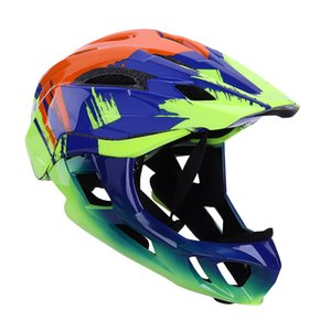 Wholesale kids full face helmet resale online - Kids Cycling Helmet with Full Face Detachable Children Helmet MTB Downhill Bike Sports Safety Capacete Ciclismo