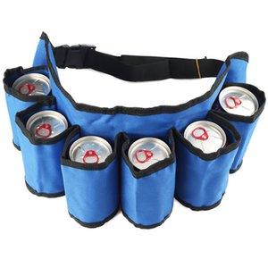 6-Pack Beer Waistband Hiking Accessories Useful Camping Cooking Picnic With Belt Climbing Outdoor For BBQ Picnic Bag