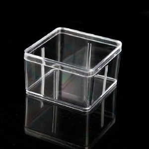 Square Plastic Box 9.5*9.5cm For Small Accessories Transparent PVC Packing Boxes With Cover Container - 000101pack