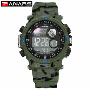 Wholesale green army watch resale online - PANARS Men s Military Sports Digital Wristwatch Army Green Camouflage Multi function LED Colorful Outdoor Casual Watches Male