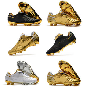 Wholesale Original Mens Tiempo Legend R10 Elite FG Ronaldo de Assis Moreira Low Ankle Soccer Shoes Football Boots Cleats US
