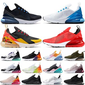 Wholesale Cushions Hot Selling Men Shoes White Photo Blue Liquid Metal Black Floral Habanero Red SUMMER GRADIENTS Women Running Shoes Sports Sneakers