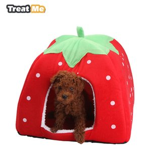 Wholesale Treat Me,Fashion Soft Dog House,Strawberry Shape,Lovely Dog Bed,Warm Corduroy Cute Cat House,Pet Bed For Cat And Small Dogs D19011201