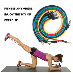 Wholesale resistance bands exercises resale online - DHL Shipping set Pull Rope Fitness Exercises Resistance Bands Latex Tubes Pedal Excerciser Workout Elastic Band FY7007