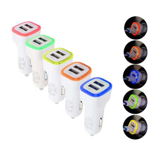 Wholesale New Arrival A A Dual USB Port LED Car Charger Adapter for Universal Smart Phone Tablet