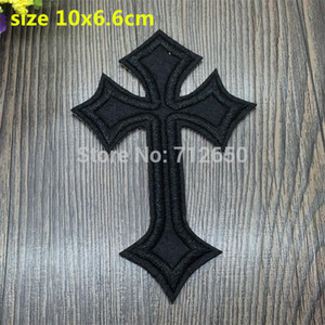 Wholesale bx for sale - Group buy New arrival Black cross cartoon Embroidered patches iron on cartoon Motif BX Applique embroidery accessory