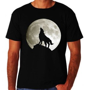 Lone Wolf Howling At The Moon Classic Tribal Mens New Novelty Black T Shirt 3D T Shirt Men Plus Size Cotton Tops Tee