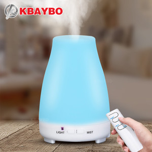 200ML Ultrasonic Humidifier Aromatherapy essentia Oil Diffuser Cool Mist With Color LED Lights remote control mini