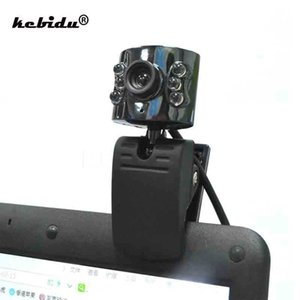 Wholesale kebidu New Webcam Mega Pixel USB Camera with Led Light HD Web cam With Mic Microphone for PC Computer Laptop Desktop
