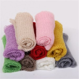 Wholesale Kid Mohair Yarn Baby Swaddle Wrap Baby Photography Blankets Newborn Fotografia Photography Props Elastic Newborn Wrap