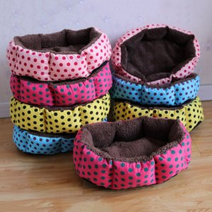 Wholesale Hot sales NEW Colorful Leopard print Pet Cat and Dog bed Pink Blue Yellowish brown Deep pink SIZE S M L XL