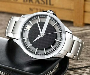 Wholesale Luxury AR mens watch fashion stainless steel waterproof Top Brand quartz watch casual Silver Black business watch relogio masculino