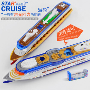 Wholesale CB Diecast Luxury Cruise Ship with Light Sound Pull Back High Simulation Ornament for Party Kid Christmas Birthday Gift Collecting