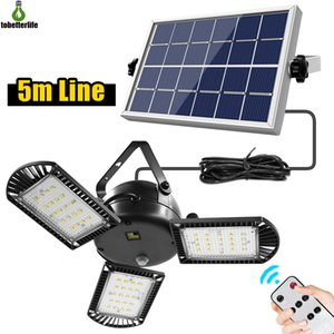 Wholesale lights timers resale online - 60 led Solar Garage Light LM Head Adjustable Brightness With Remote Control Timer Outdoor Waterproof Solar Garden Lamps