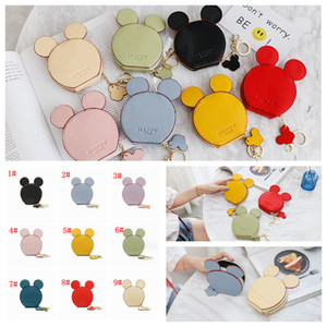 Wholesale 9styles Mouse Ear Wallet Zipper Key Card Holder Coin Purse Child mini Phone Money Pouch Kids Shoulder Bags cartoon storage pouch FFA2018