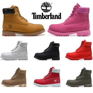 Wholesale New arrivel Timberland boots designer luxury boots for mens winter boots top quality womens Military Triple White Black Camo size