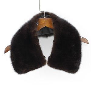 100% genuine real mink fur collar men winter coat scarf accessory women jacket fur collar black coffee chinese retail wholesale Y200110