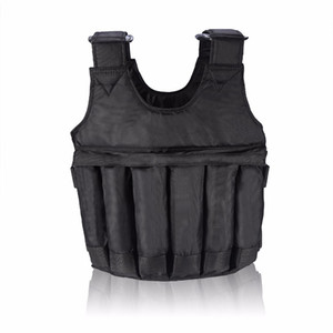 Adjustable Fitness Weighted Vest 20kg 50kg Exercise Training Fitness Jacket Gym Workout Boxing Waistcoat Equipment BHD2