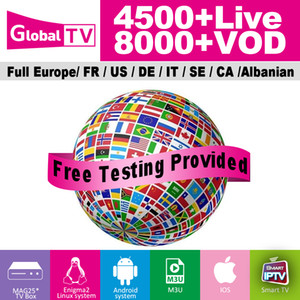 Free test Global iptv 4500+live channels 8000+VOD Italy UK sports channel French Arabic USA CA iptv subscription for iptv box abonnement tv