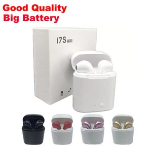 Wholesale Good Quality I7S TWS Wireless Bluetooth Earbuds earphone Twins Headphones with Charger Box Dock for Android Samsung Sony Smart Phones MQ100