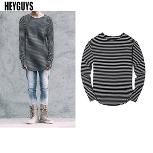 Wholesale Cool2019 Lead Width Classic Stripe Long Sleeve Glove Rendering T The Right Zhilong High Chao Jie Male Than Berton Gate Wu Yi All With