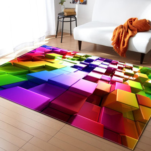 Wholesale Nordic Style Geometric Pattern D Carpet Large Size Living Room Bedroom Table Rug and Carpet Rectangular Antiskid Floor Mat