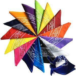 Paisley Cowboy Hip hop Bandanas Handkerchief fashion mask Printed Square riding hooded scarf Multicolors Muffler for Men Women