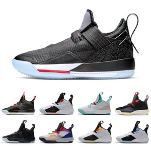 Wholesale Hot Black Cement s XXXIII Mens Basketball Shoes All Star Army Olive SE Tiger Camo Tech Pack Guo Ailun Trainers Sneakers Size