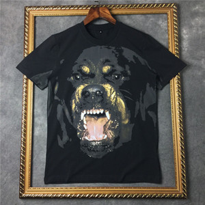 Wholesale 2019 brand clothing Designer men D classic Rottweiler animal print t shirt cotton t shirt women tee tops Camisa Masculina mens tshirt